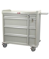 OptimAL Line All Aluminum 600 Punch Card Medication Cart HARAL600PC-