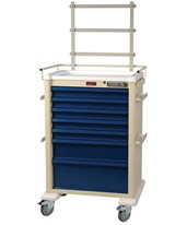 Aluminum Super Tall Universal Line Pushbutton Lock Anesthesia Cart HARAL810E7-