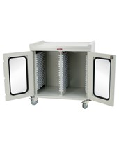 Medstor Max Short Double Column Medical Storage Cart HARMS4040DR-