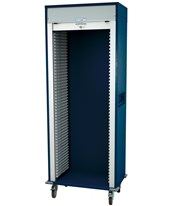 Medstor Max Single Column Medical Storage Cart with Tambour Door HARMS8128