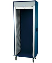 Medstor Max Wide Single Column Medical Storage Cart with Tambour Door HARMS8138