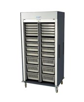 Medstor Max Preconfigured Double Column Medical Storage Cart with Tambour Door HARMS8140-D-