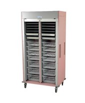 Medstor Max Preconfigured Double Column Cardiovascular Medical Storage Cart with Tambour Door HARMS8140-CARDIO