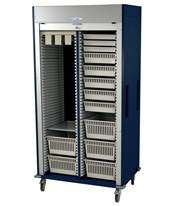 Medstor Max Preconfigured Double Column Vascular Medical Storage Cart with Tambour Door HARMS8140-VASC