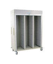 Medstor Max Triple Column Medical Storage Cart with Tambour Door HARMS8160-
