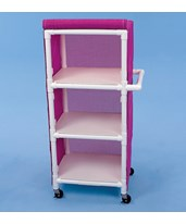 3 Shelf Linen Cart with Cover HMPLC243W3-