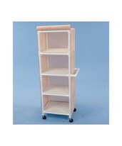 4 Shelf Linen Cart with Cover HMPLC244W3-