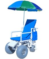 WHEELEEZ: PVC Reclining Beach Wheelchair ‐ Swivel Back wheels HMPROLLEEZ-RECLINE