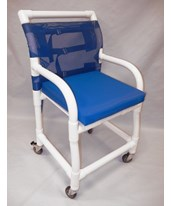 "18"" PVC Shower Chair - Flatstock seat HMPSC6013D-PAD"