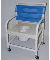 "PVC Shower Chair with Vaccum Formed Seat - 24"" Width HMPSC6014XVAC"