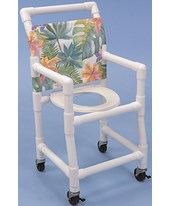 "Pediatric PVC Shower Chair Commode - 15"" Wide HMPSC6153SPED--KIT"