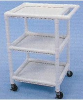 PVC Multi-Purpose Serving Carts - Large & Small HMPUC4020W3-