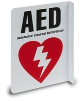 2-Way AED Wall Sign HSMHST-WS01