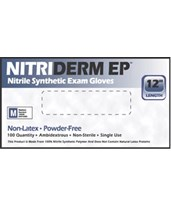 Nitriderm® Ep Nitrile Synthetic Exam Gloves IHC182100-