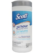Scott® 24 Hour Sanitizing Wipes - 12 Canisters/Cs KIM41524