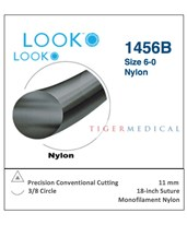 Nylon Non-Absorbable Sutures with Precision Conventional Cutting Needles, 3/8 Circle, 12 per Box LOO1456B