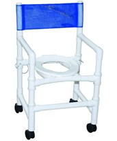 Transportable Folding Shower Commode Chair MJM115-3-FD-
