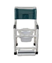 Commode Shower Chair with Folding Footrest and Commode Pail MJM118-3-FF-SQ-PAIL