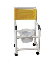 Shower Chair with Flip Up Seat MJM118-3-FLS-SQ-PAIL
