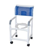 Commode Shower Chair with Individual Footrest MJM118-3-IF