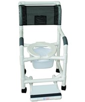 PVC Standard Commode Shower Chair MJM118-3TW-KIT