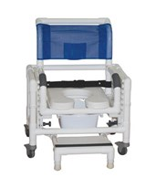 RIO Deluxe Adjustable Shower Chair Commode Chair MJM118-3-TL-SFS-SQ-PAIL-SSDE-SADJ-BB-18