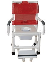 PVC Commode Shower Chair, with Upgrade Seating and Caster Options MJM118-3