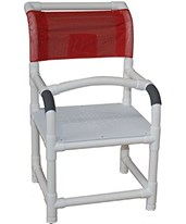 Stationary Commode Shower Chair With Flatstock Seat MJM118-LP-F