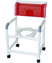 PVC Wide Commode Shower Chair MJM122-3TW