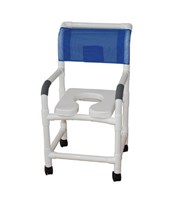 "22"" Wide Soft Shower Commode with Sliding Footrest MJM122-3-SSDE-SF"