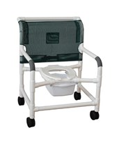 "26"" Wide Commode Shower Chair with Heavy Duty Casters MJM126-5-WB"