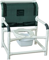 "26"" Wide Stationary Commode Shower Chair MJM126-LP-NB-"