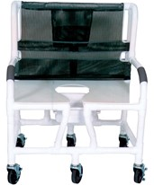 PVC Extra Wide Bariatric Commode Shower Chair MJM130-5-KIT