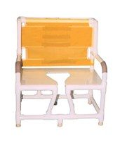 "130"" Bariatric Bedside Commode with Full Support Mesh Back MJM130-C10"
