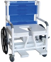 Bariatric Aquatic Rehab Commode Shower Chair MJM131-18-24W-BAR-