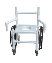 Foldable Transfer Chair with Dual Swing Away Arms MJM131-18-24W-F-DE-CON