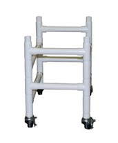 "Optional Dual Base Extension with 3"" Casters for 191 Reclining Shower Chair MJM191-BB"