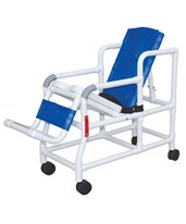 Pediatric Tilt'n'Space Shower Commode with Soft Seat and Double Drop Arms MJM193-TIS-PED