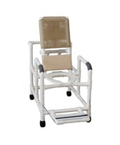 Reclining Shower Chair with Folding Footrest and Drop Down Arms MJM195-DDA