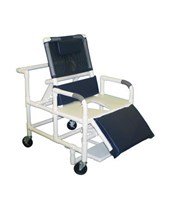Bariatric Reclining Shower Commode with Full Support Seat and Footrest MJM196-30-BAR