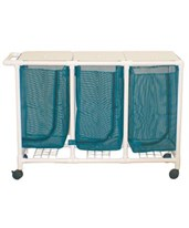 Space Saving Triple Hamper with Mesh Bag MJM213-T-