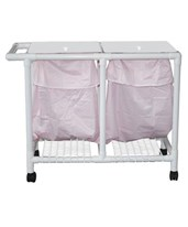 Double Hamper with Leak-Proof Bag and Footpedal MJM214-D-LP-FP