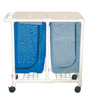 Non-Magnetic Double Hamper with Mesh Bag MJM214-D-MRI