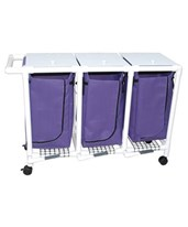 Triple Hamper with Mesh Bag and Foot pedal MJM214-T-FP
