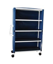 "Non-Magnetic 4 Shelf Jumbo 24"" Linen Cart MJM325-24-4C-MRI-"