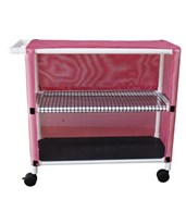 Two Shelf Linen Cart with Open Area Shelf System MJM332T-2C-