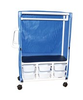 Linen Hanging Cart with Six Slide Out Tubs MJM345-1C-6T
