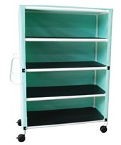 Four Shelf Linen Carts MJM345-4C-3-