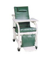 Non-Magnetic Extra Wide Reclining Geri Chair with Elevated Leg  and Footrest MJM524-SL-MRI-