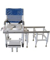 Deluxe Dual Shower Commode and Transfer Bench MJMD118-5-SLIDE